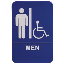 "6"" x 9"" Men with wheelchair"